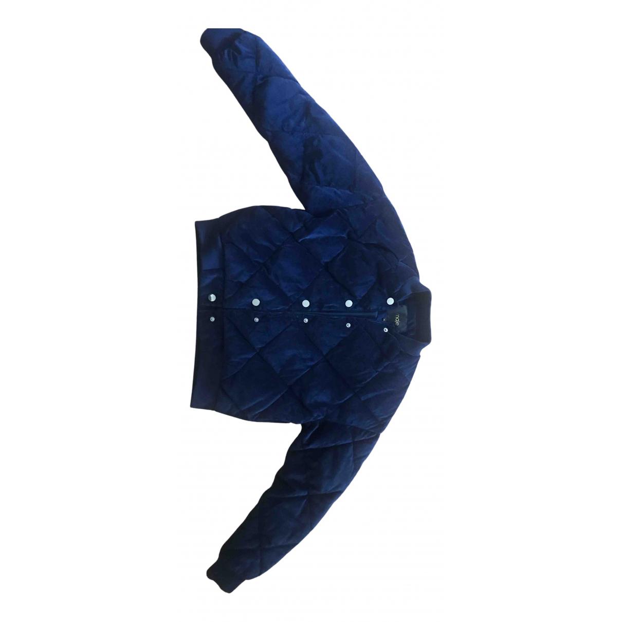 Maje - Veste Fall Winter 2019 pour femme en velours - bleu