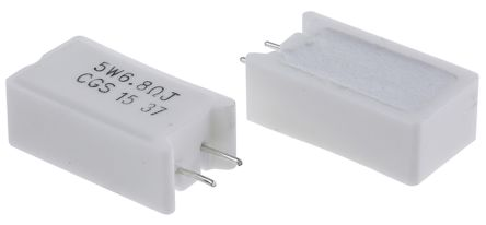 TE Connectivity 6.8Ω Wire Wound Resistor 5W ±5% SQMW56R8J (5)