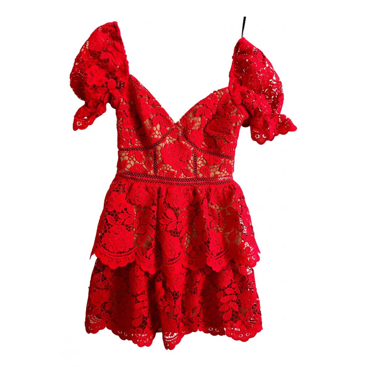 Self Portrait - Robe   pour femme - rouge