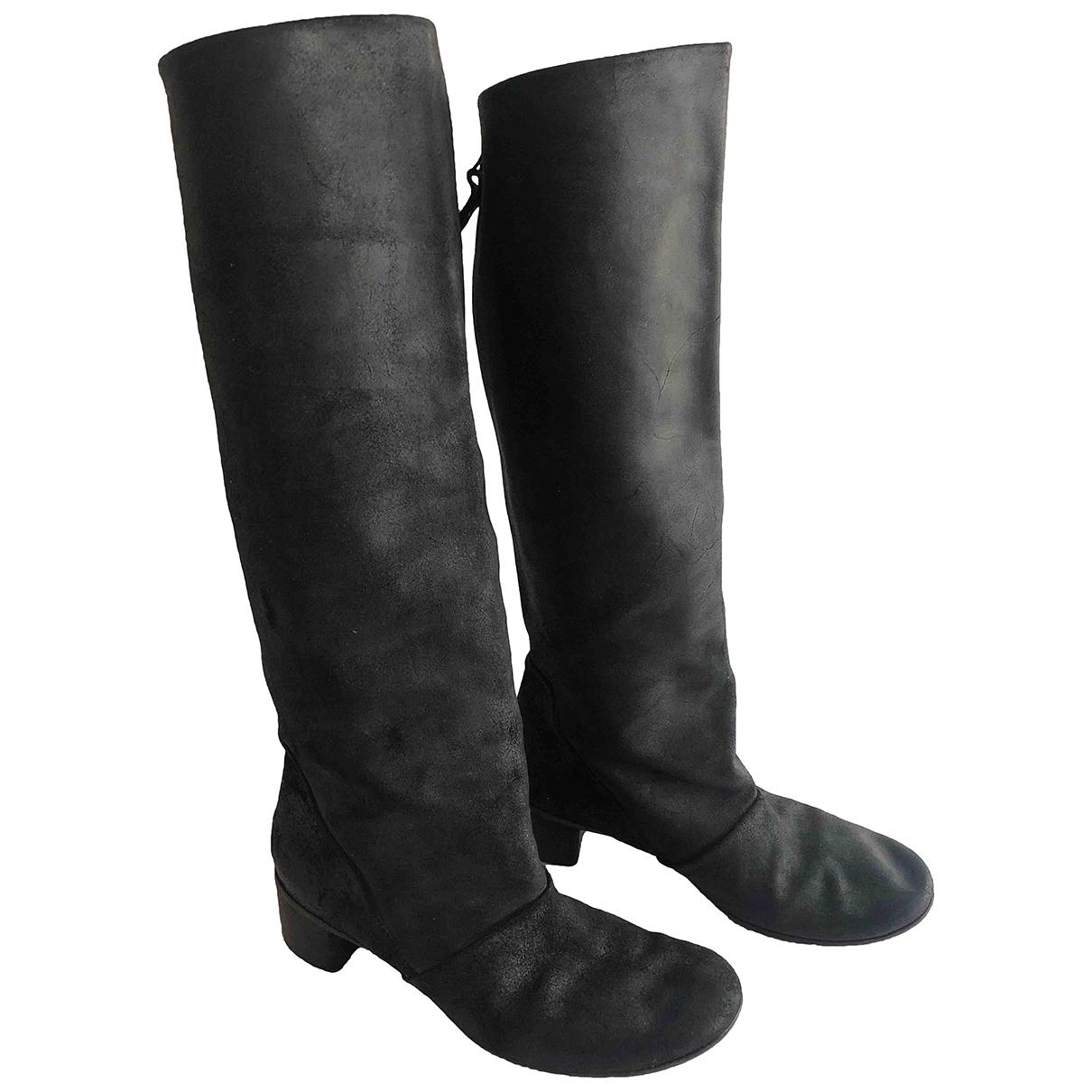 Marsell \N Stiefel in  Schwarz Leder