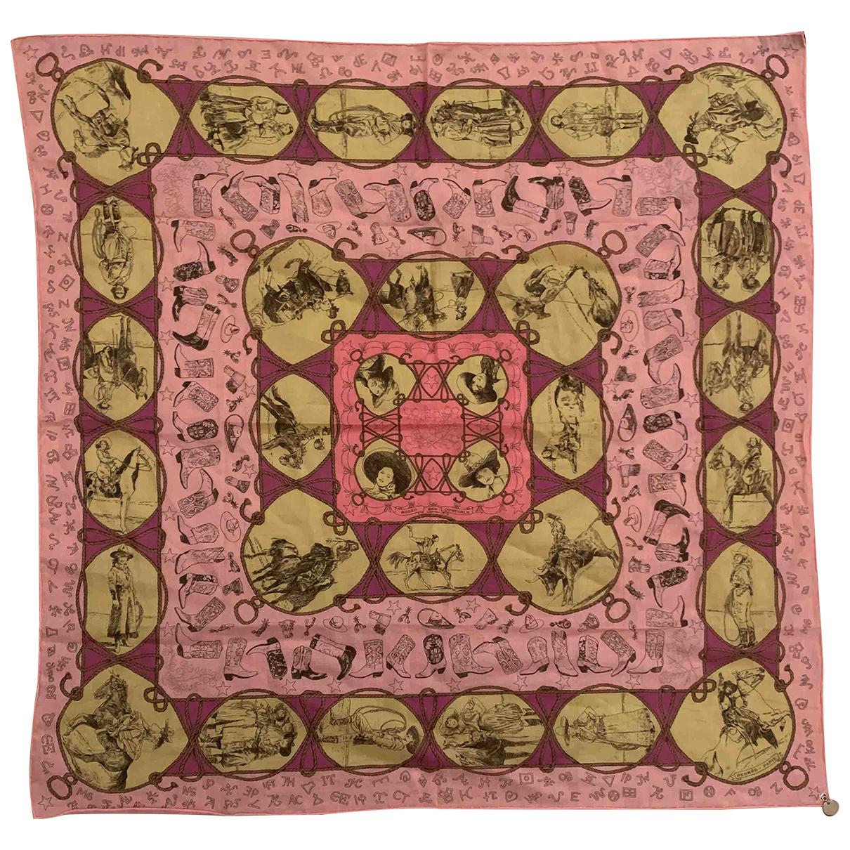 Hermes - Foulard   pour femme en coton - multicolore