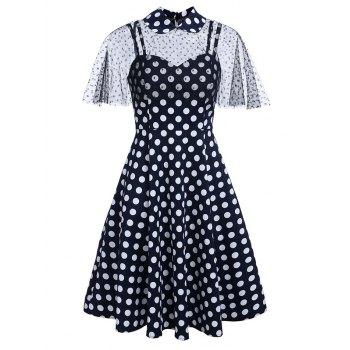 Polka Dot Sweetheart Capelet Dress