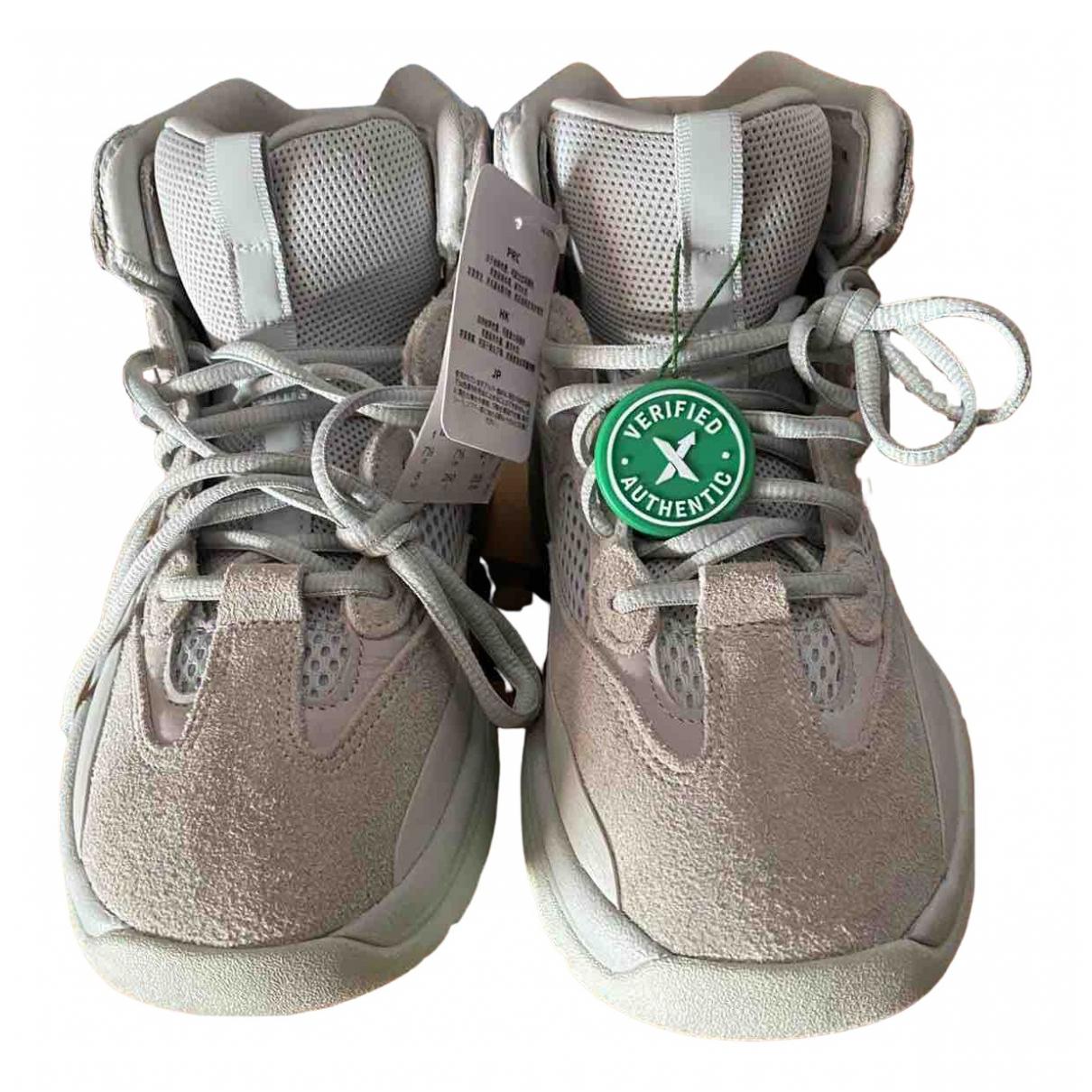 Yeezy X Adidas - Boots   pour femme en suede - gris