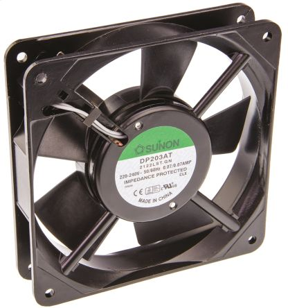 Sunon , 220 → 240 V ac, AC Axial Fan, 120 x 120 x 25mm, 78.2m³/h, 13W