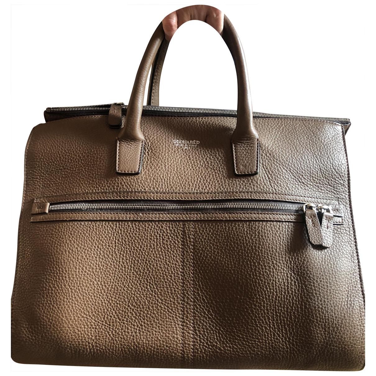 Dsquared2 - Sac de voyage   pour femme en cuir - marron