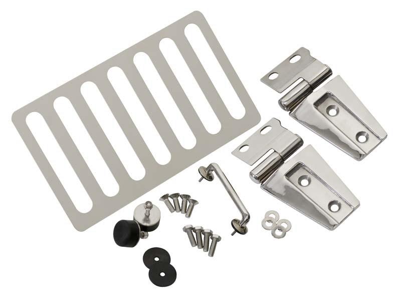 Jeep JK Hood Kit Without Hood Catch 07-18 Wrangler JK Polished Silver Kentrol 30588WHC