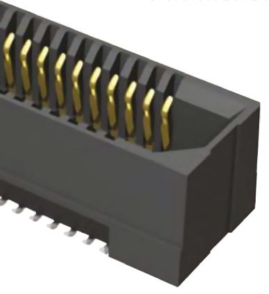 Samtec , ERF8 0.8mm Pitch 40 Way 2 Row Straight PCB Socket, Surface Mount, Solder Termination