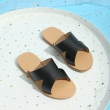 Toddler Girls Cut Out Wide Fit Slides