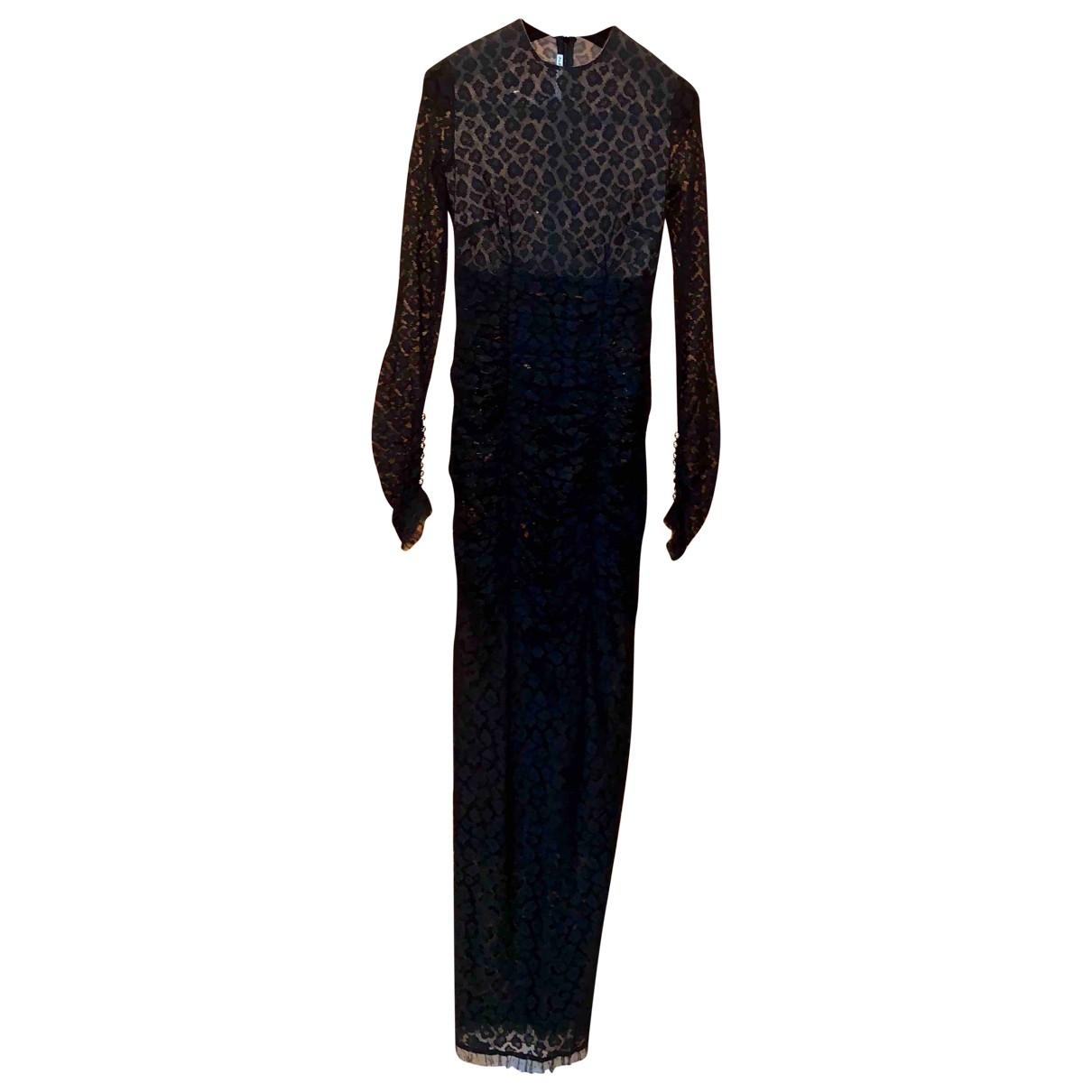 Alessandra Rich - Robe   pour femme en dentelle - noir