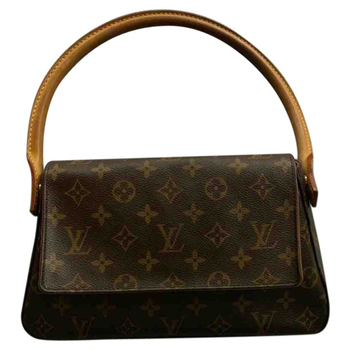 Louis Vuitton - Sac a main Looping pour femme en toile - marron
