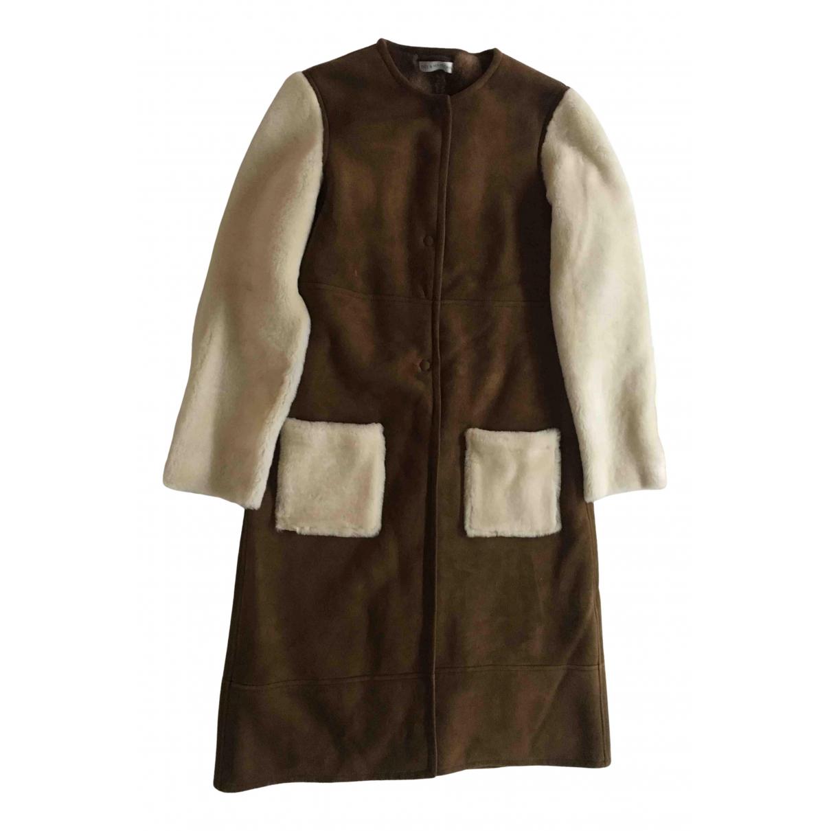 Ines Et Marechal N Brown Mongolian Lamb Leather jacket for Women 40 FR