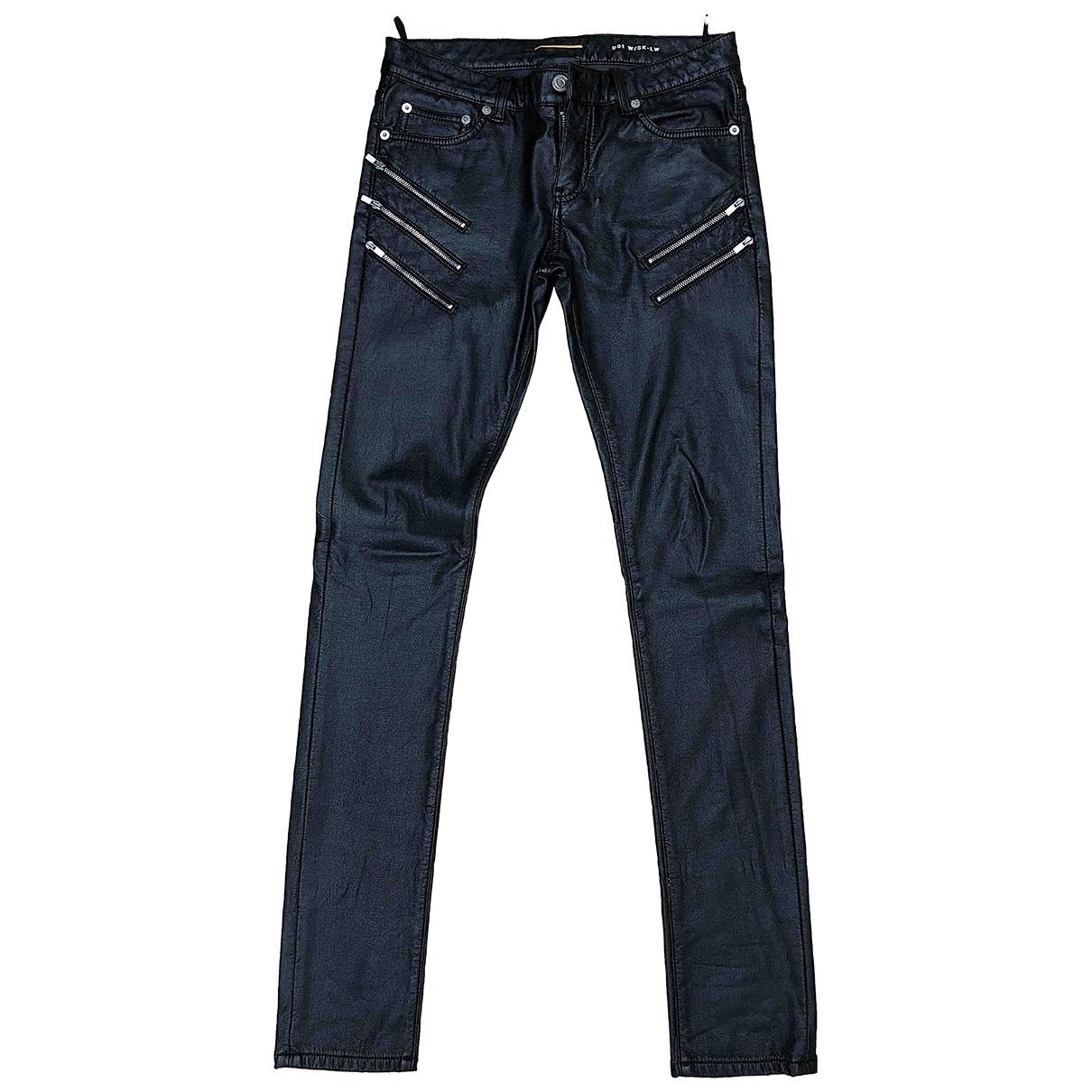 Saint Laurent \N Black Cotton Jeans for Men 28 US