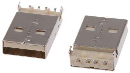 ASSMANN WSW USB Connector, SMT, Plug A, Right Angle (5)