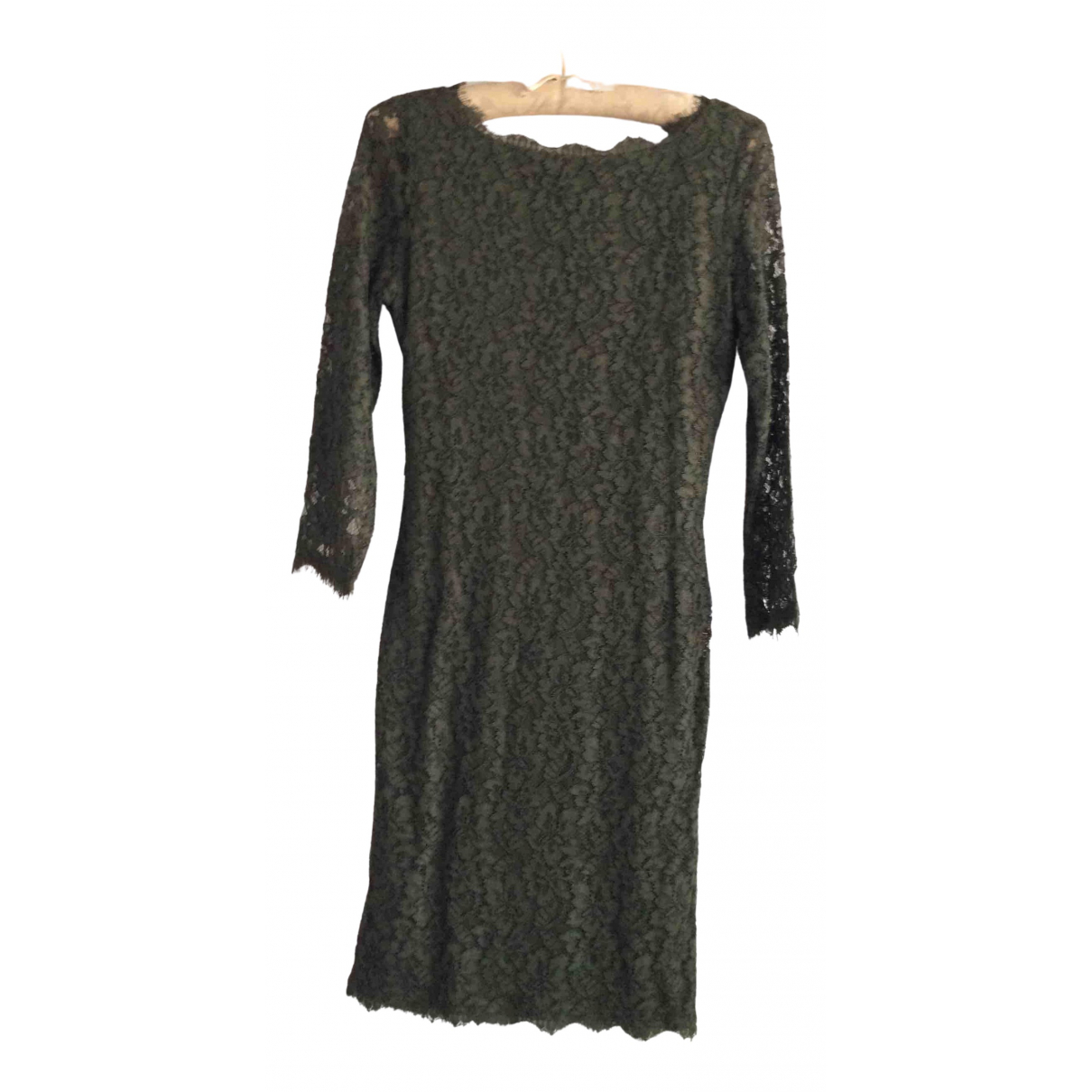 Diane Von Furstenberg \N Kleid in  Khaki Spitze