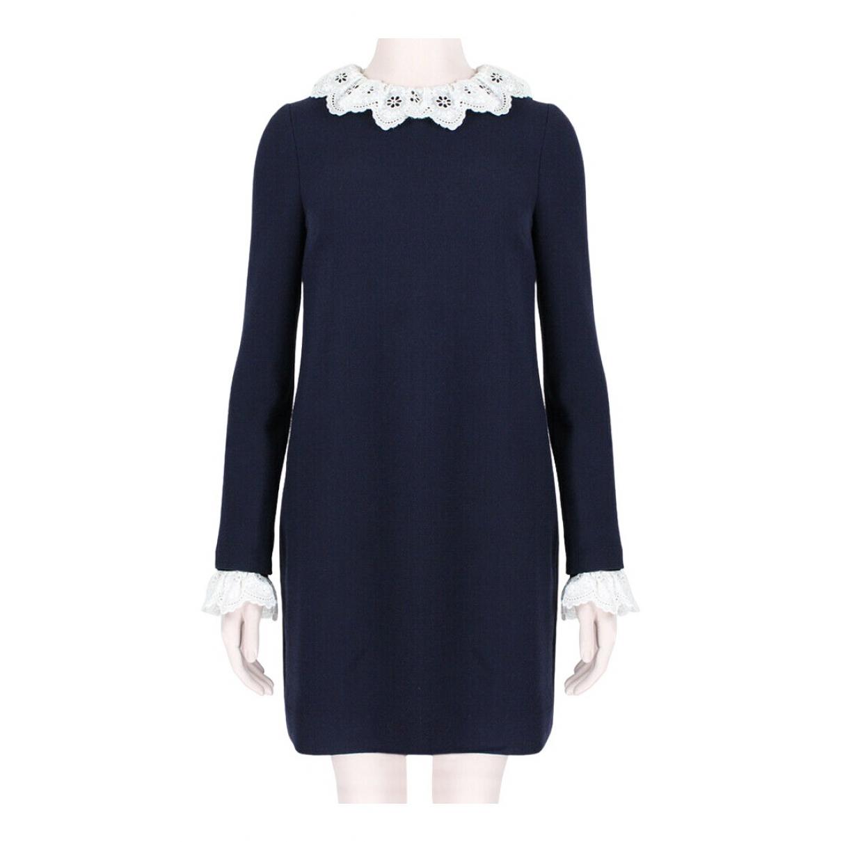 Victoria, Victoria Beckham \N Kleid in  Blau Wolle