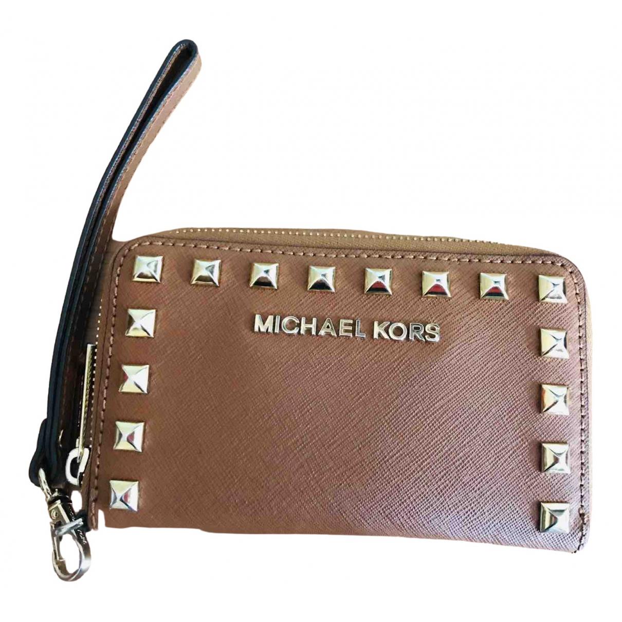 Michael Kors - Portefeuille   pour femme en cuir - camel