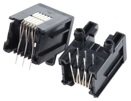 TE Connectivity , Female Cat3 RJ25 Modular Jack Connector (10)
