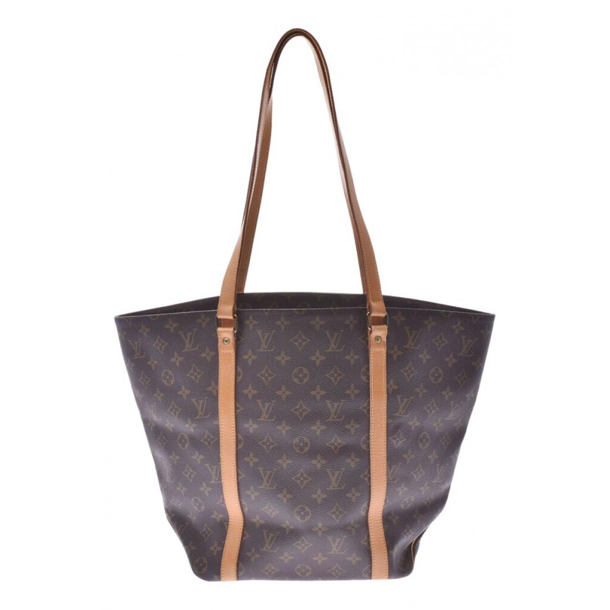 Louis Vuitton - Sac a main Shopping pour femme en toile - marron