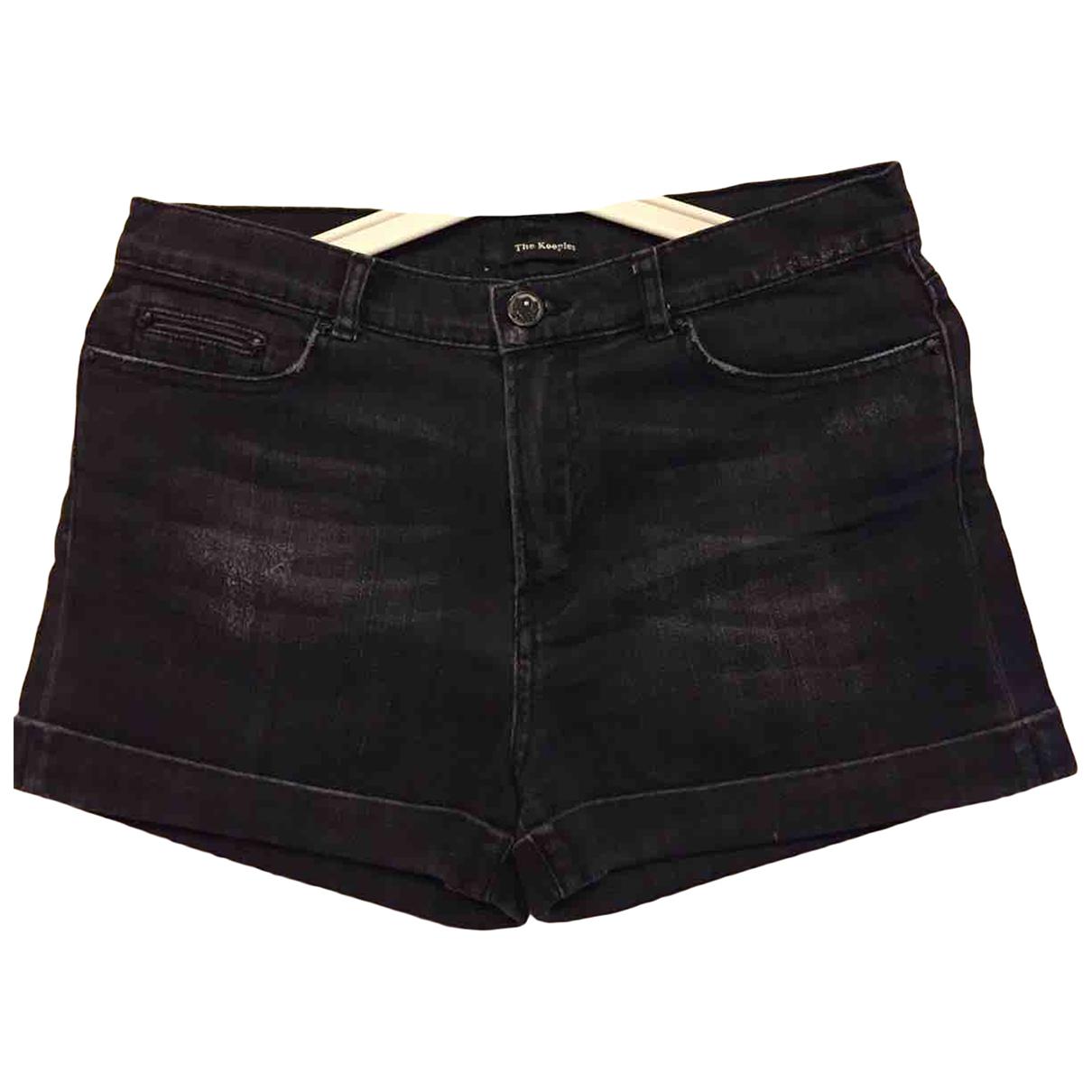 The Kooples \N Black Cotton Shorts for Women S International