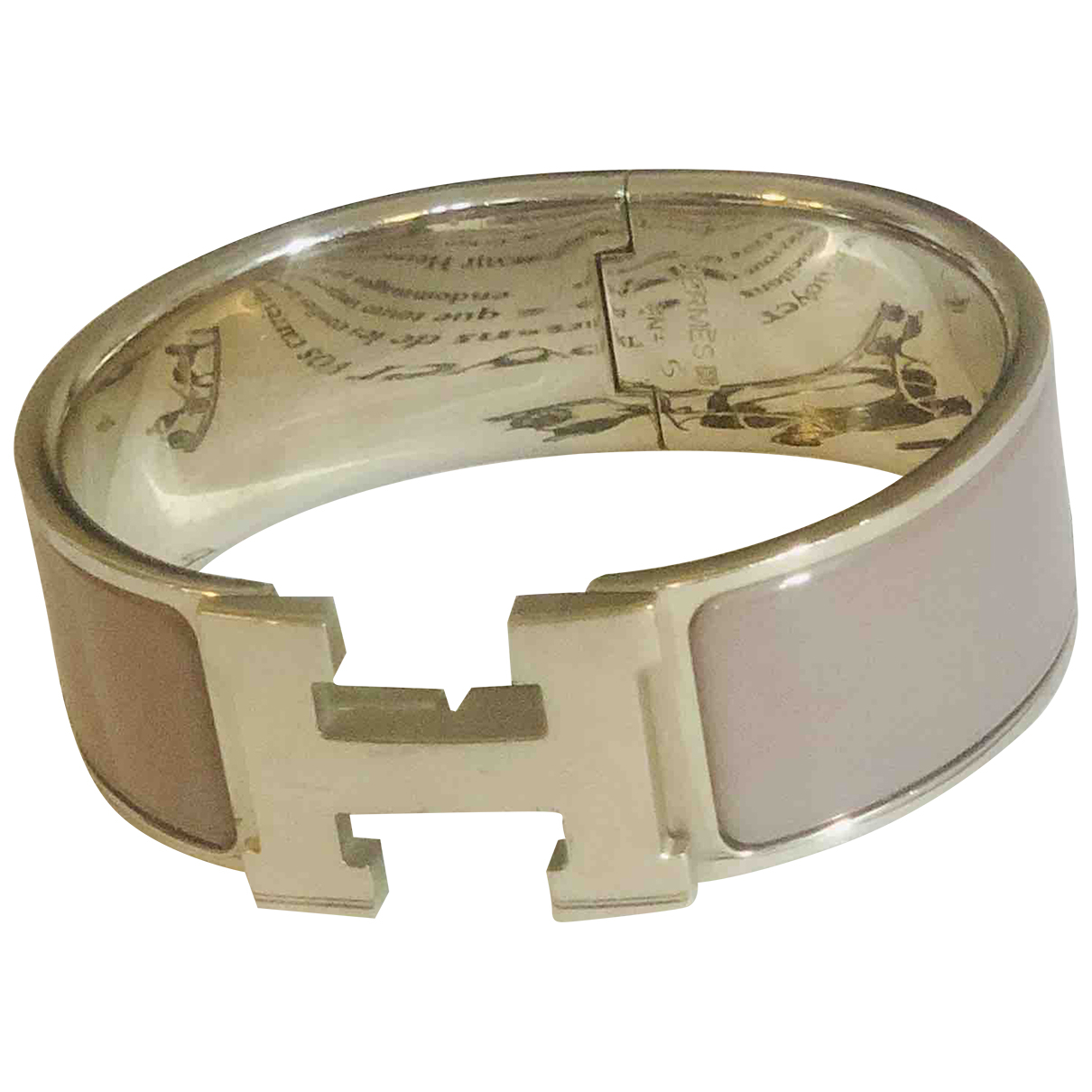 Hermes Clic H Armband in  Lila Silber