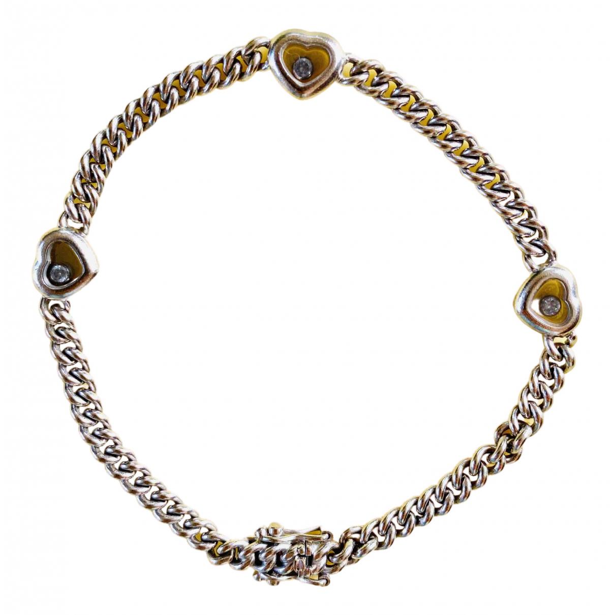 Chopard - Bracelet Happy Diamonds pour femme en or blanc - argente
