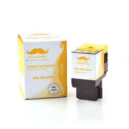 Lexmark 70C1HY0 cartouche de toner compatible jaune haute capacité - Moustache®