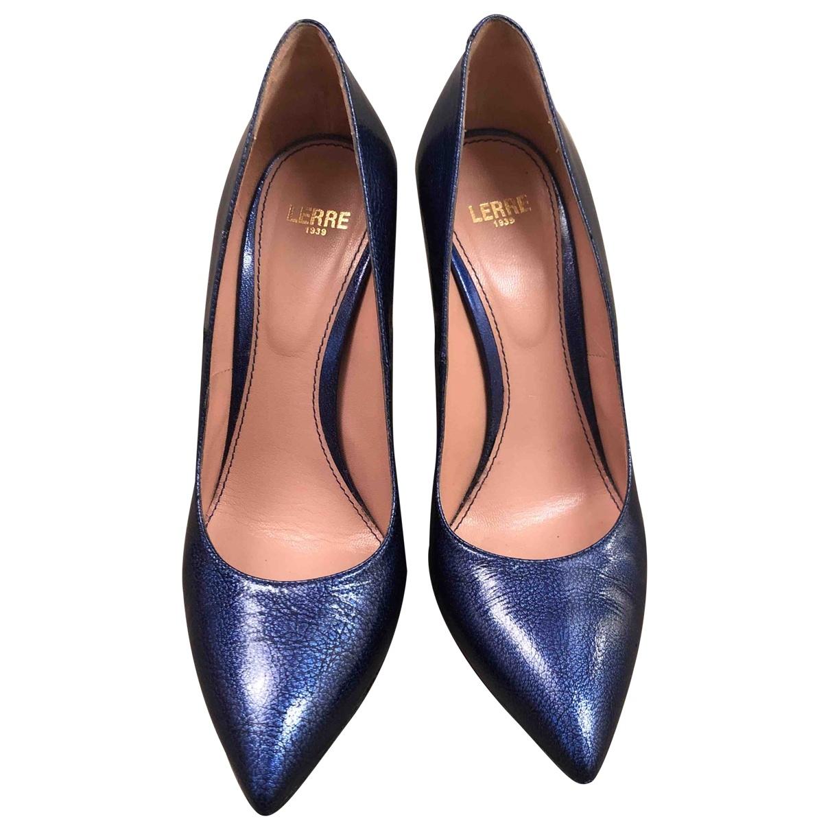 Lerre \N Blue Leather Heels for Women 37.5 EU