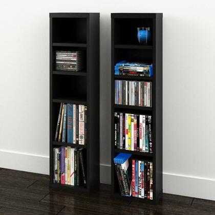 211006 Sereni-T Collection  Towers CD/DVD (Set of 2) with 3 Dedicated Spaces for CDs and 2 Spaces for DVDs  in
