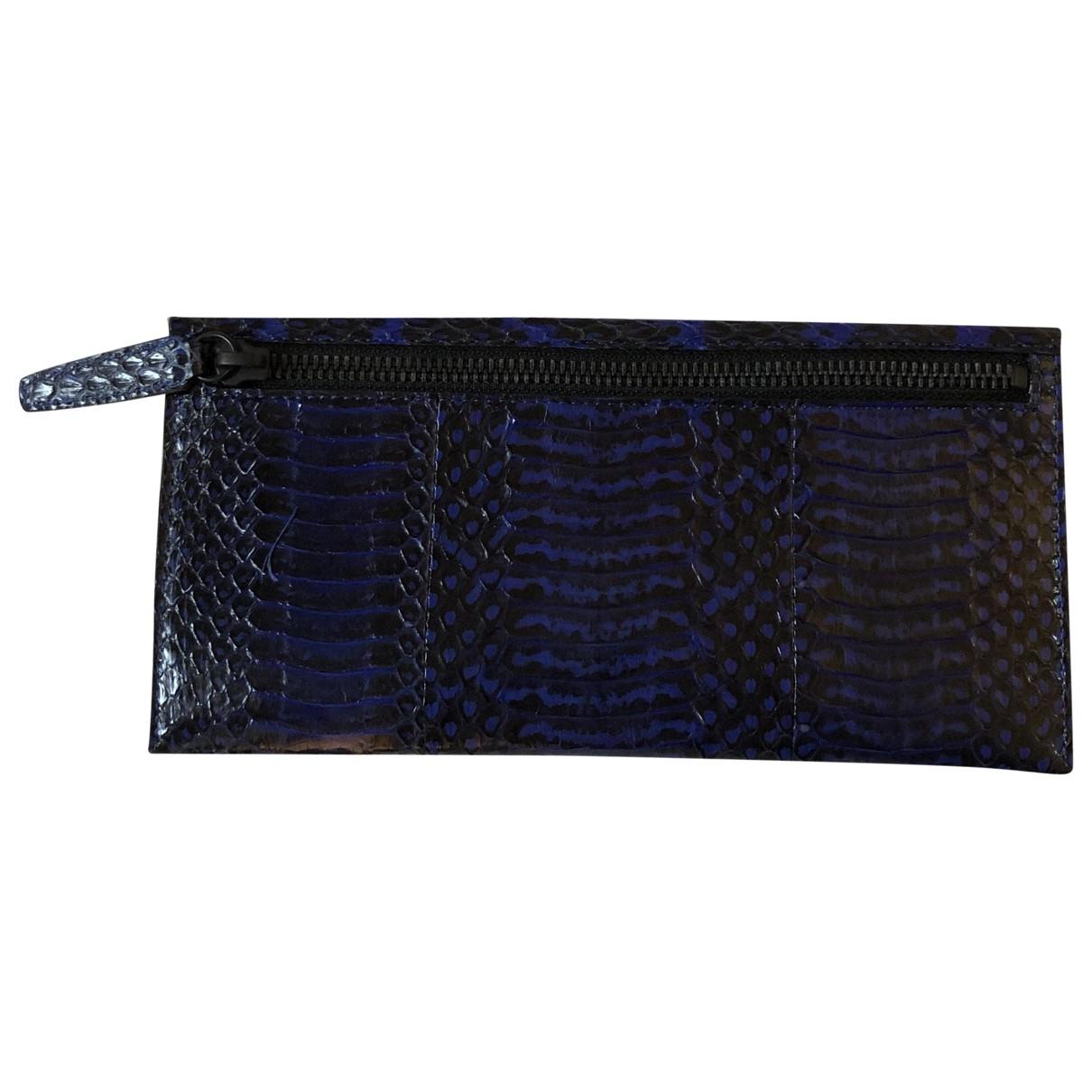 3.1 Phillip Lim \N Blue Python wallet for Women \N