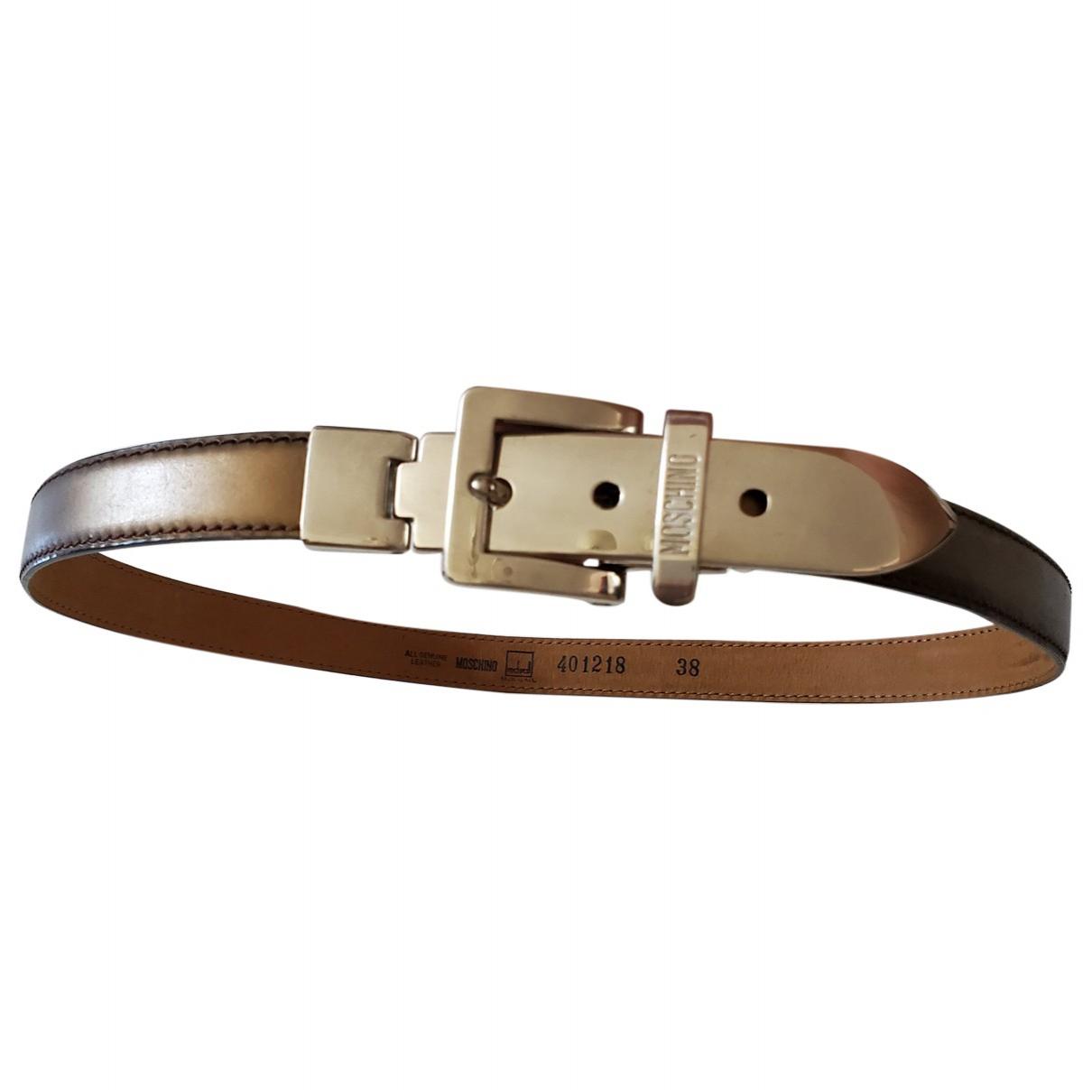 Moschino \N Guertel in  Metallic Leder