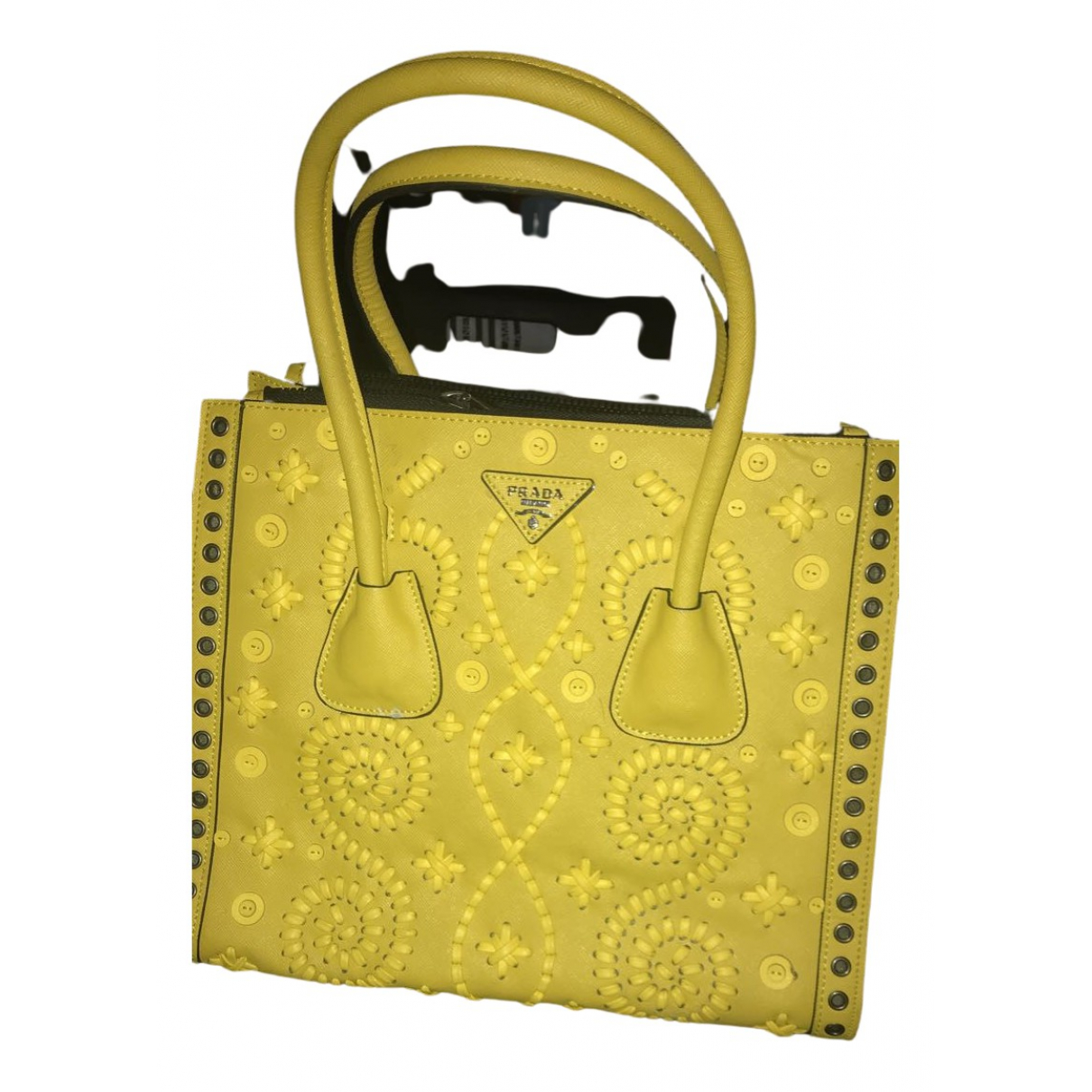 Prada Ouverture Yellow Leather handbag for Women N