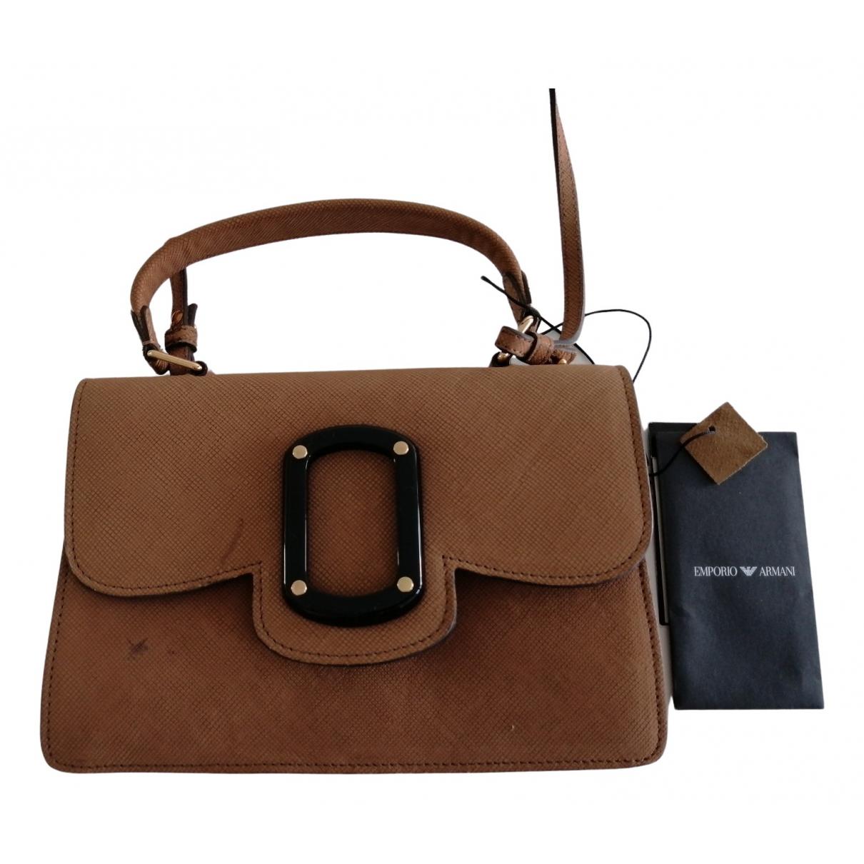 Emporio Armani \N Camel Leather handbag for Women \N