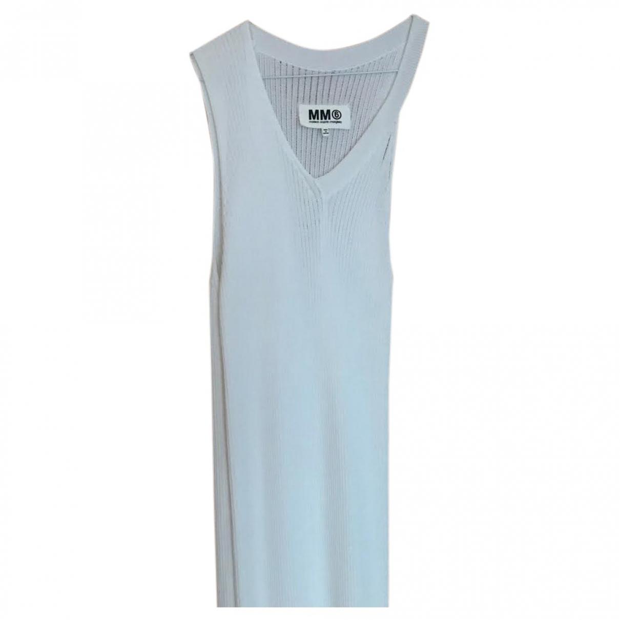 Mm6 \N Kleid in  Weiss Polyester