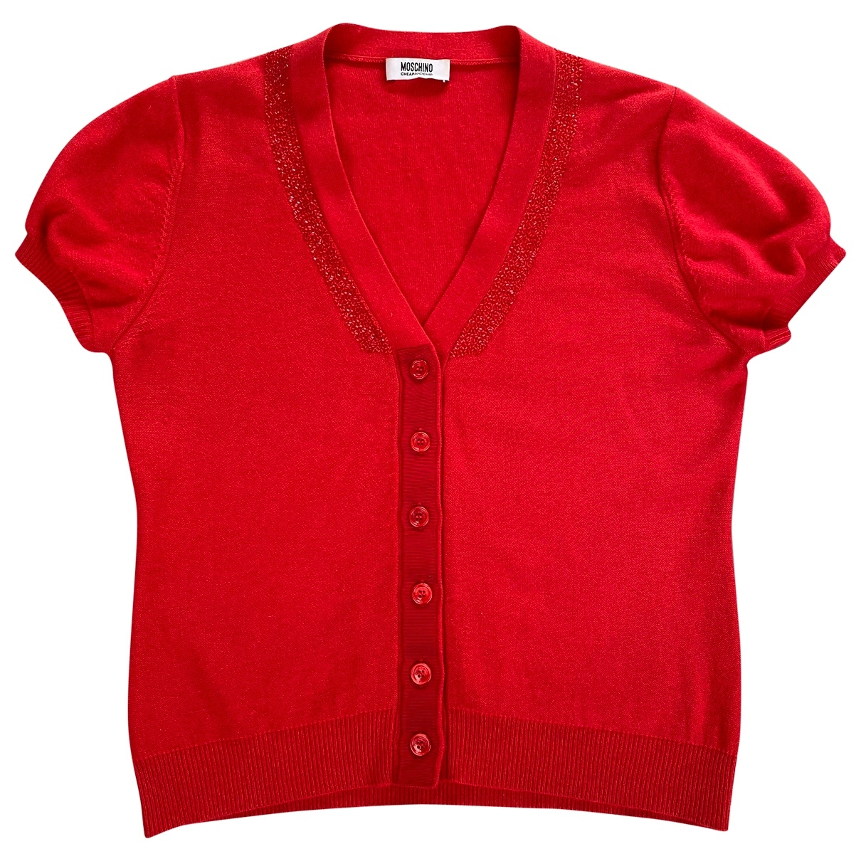 Moschino Cheap And Chic - Pull   pour femme en cachemire - rouge