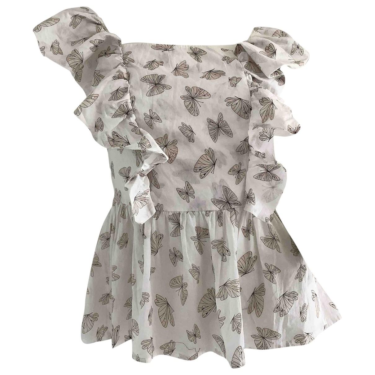 Elisabetta Franchi \N White Cotton  top for Women 40 IT