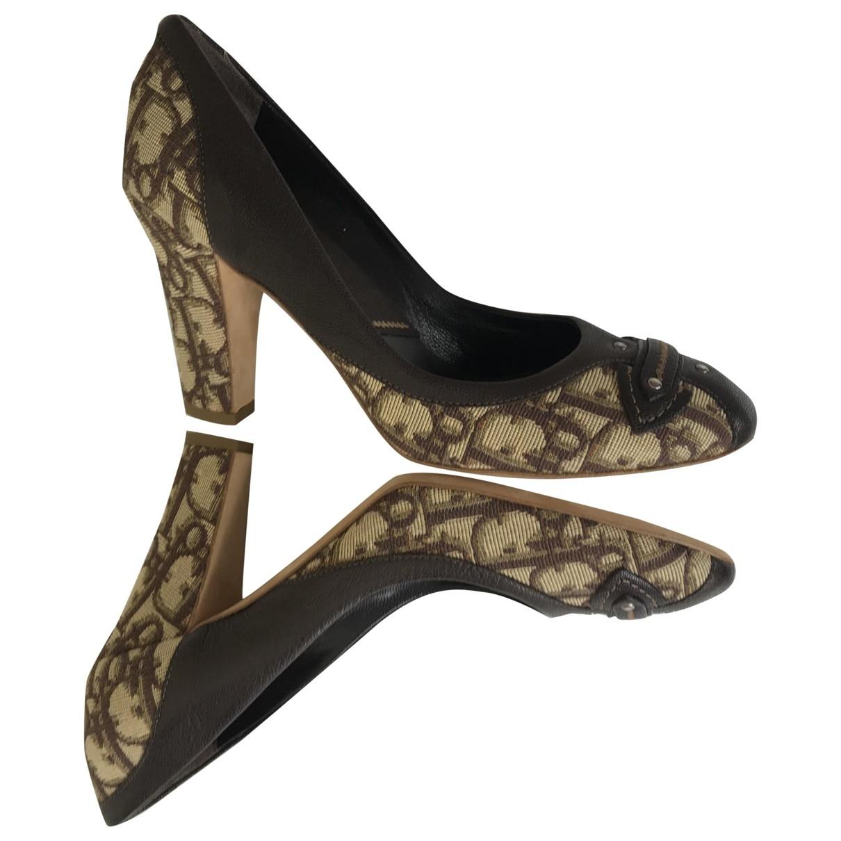 Dior \N Brown Leather Heels for Women 38.5 EU