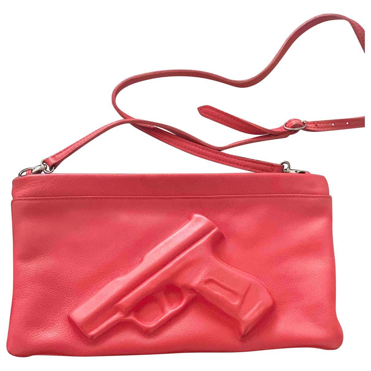 Vlieger & Vandam N Red Leather Clutch bag for Women N