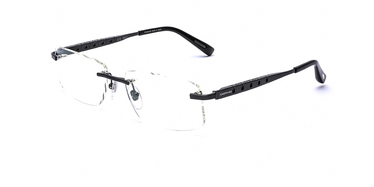 Chopard VCHA99 0K10 Men's Glasses Black Size 57 - Free Lenses - HSA/FSA Insurance - Blue Light Block Available