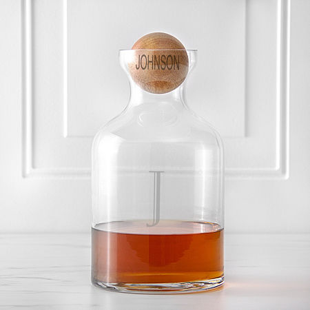 Cathy's Concepts Personalized Whiskey Decanter with Wood Stopper, One Size , No Color Family