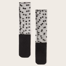 1 Paar Kleinkind Maedchen Tupfenmuster Socken