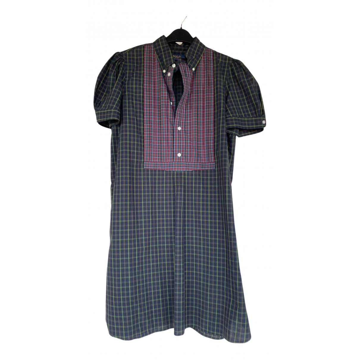 Polo Ralph Lauren \N Kleid in  Gruen Baumwolle
