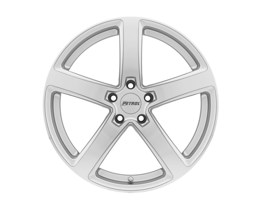 Petrol 1880P2A355120S76 P2A Wheel 18x8 5x120 35mm Silver w/ Machined Cut Face