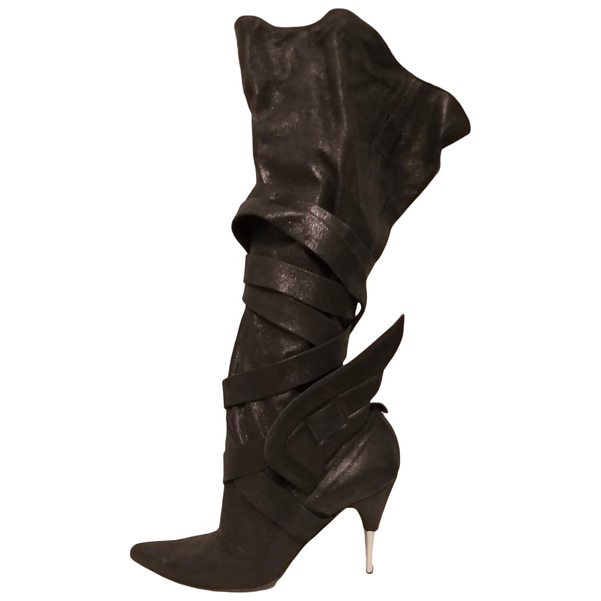 Sonia Rykiel - Bottes   pour femme en cuir - noir