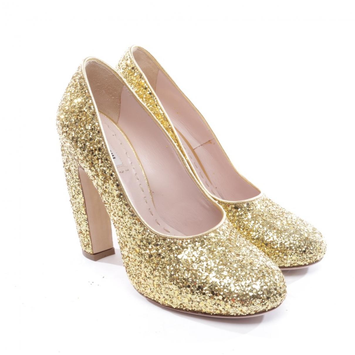 Miu Miu \N Metallic Leather Heels for Women 39 EU
