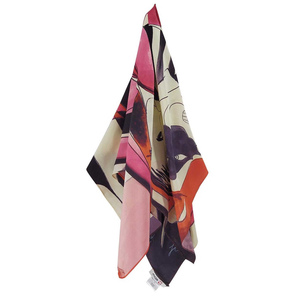 Maje \N Red Silk Silk handkerchief for Women \N