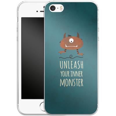 Apple iPhone 5 Silikon Handyhuelle - Unleash Your Inner Monster von Statements