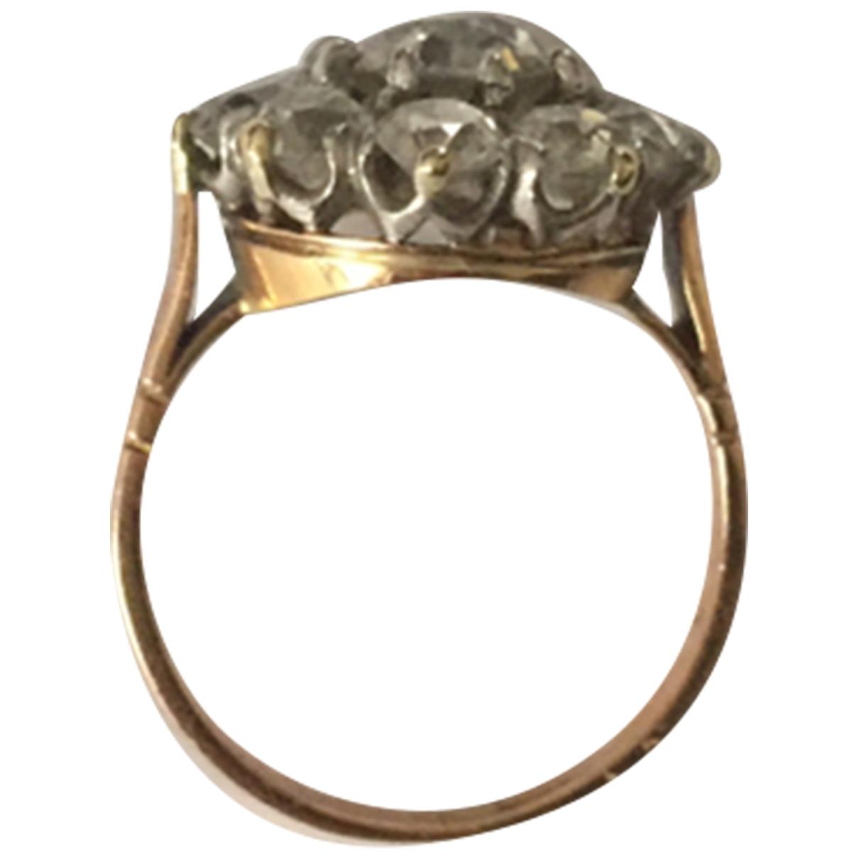Non Signe / Unsigned Art Deco Ring in  Rosa Rosegold