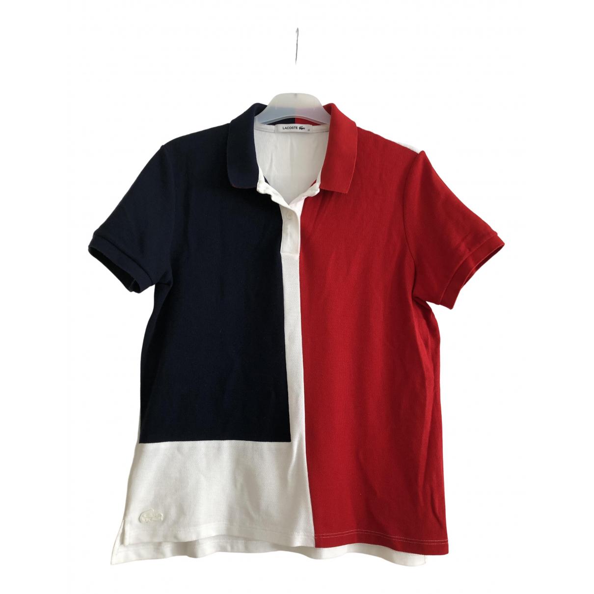 Lacoste - Top   pour femme en coton - multicolore
