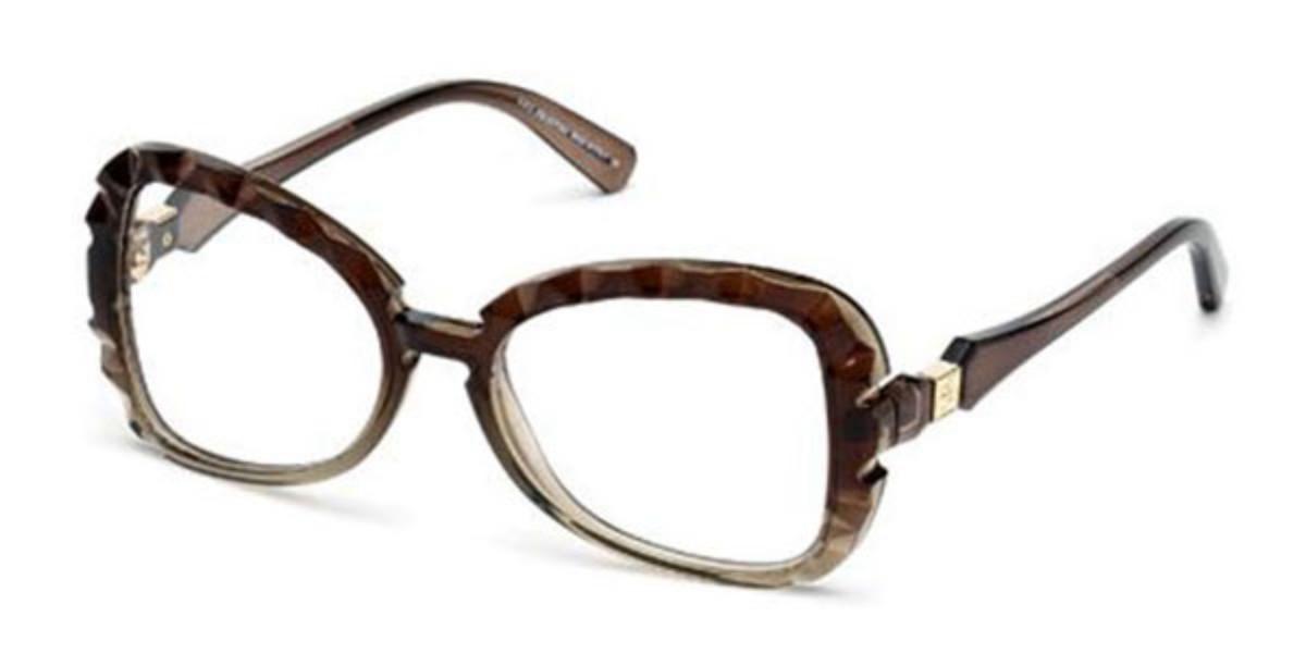Swarovski SK5061 050 Women's Glasses Brown Size 54 - Free Lenses - HSA/FSA Insurance - Blue Light Block Available