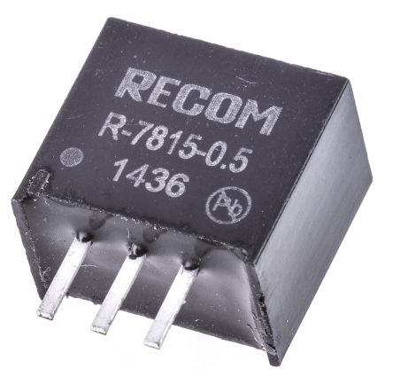 Recom Through Hole Switching Regulator, 15V dc Output Voltage, 18 → 32V dc Input Voltage, 500mA Output Current